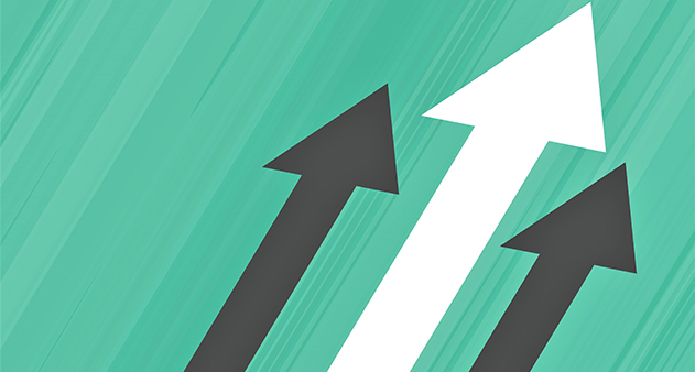 arrow moving upward, leadership business concept design
